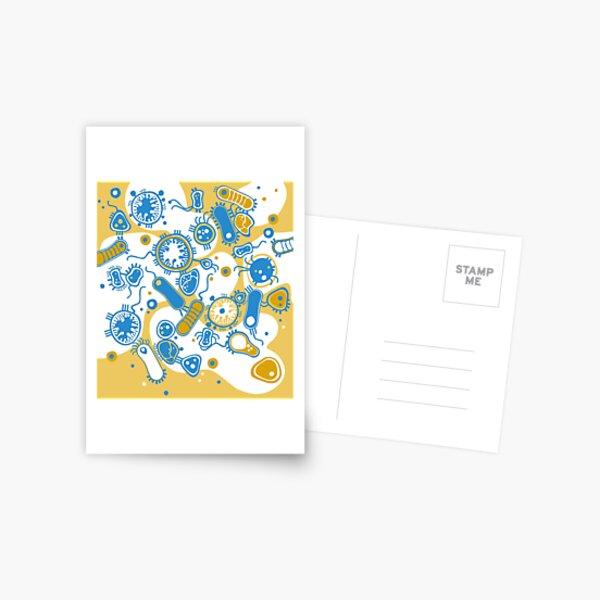 Eukaryote (yellow + blue) Postcard