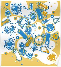 Eukaryote (gelb+ blau) Poster
