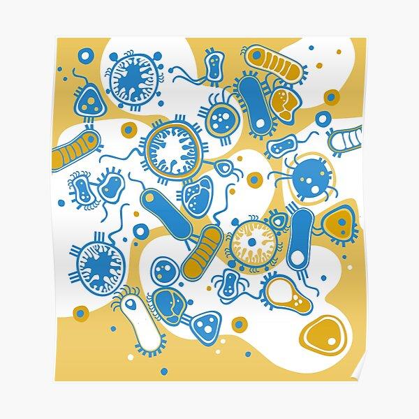 Eukaryote (yellow + blue) Poster