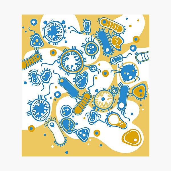Eukaryote (gelb+ blau) Fotodruck