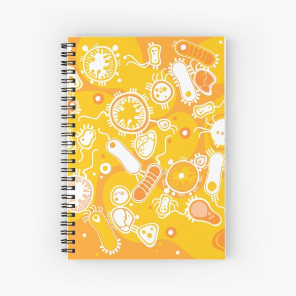 Eukaryote (white + yellow) Spiral Notebook