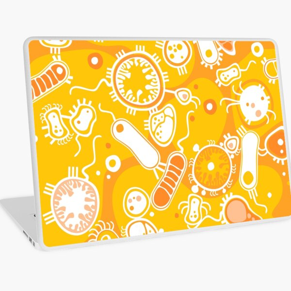 Eukaryote (white + yellow) Laptop Skin