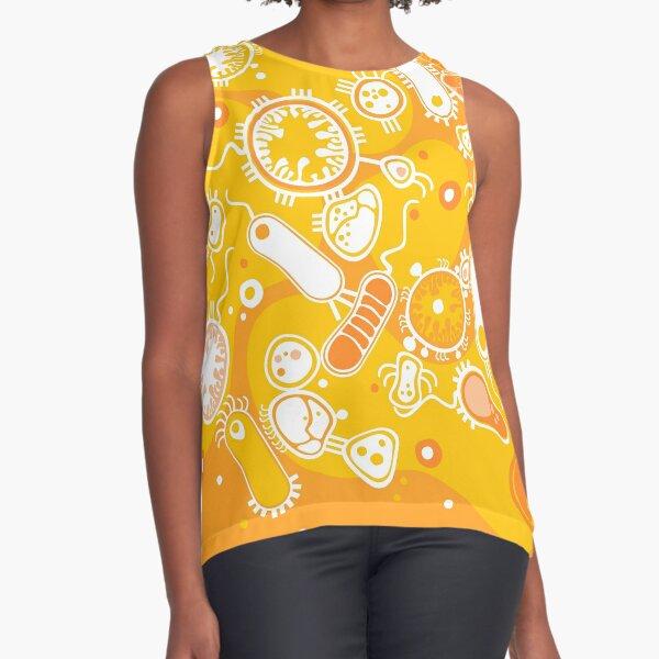 Eukaryote (white + yellow) Sleeveless Top