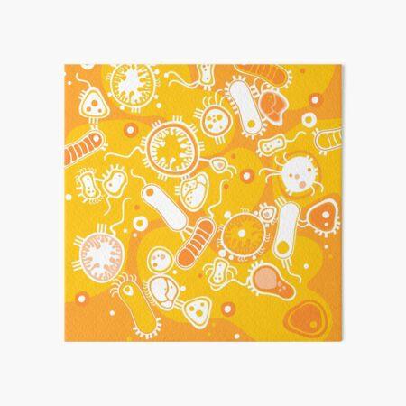 Eukaryote (weiß + gelb) Galeriedruck