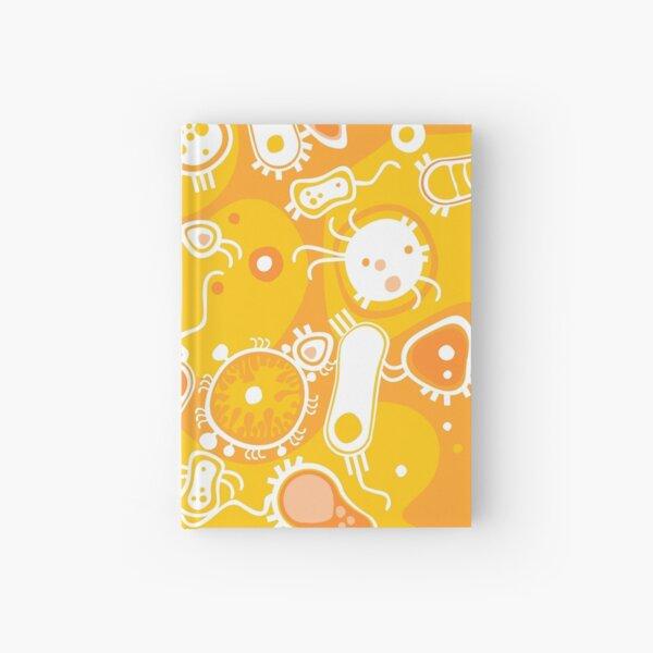 Eukaryote (white + yellow) Hardcover Journal
