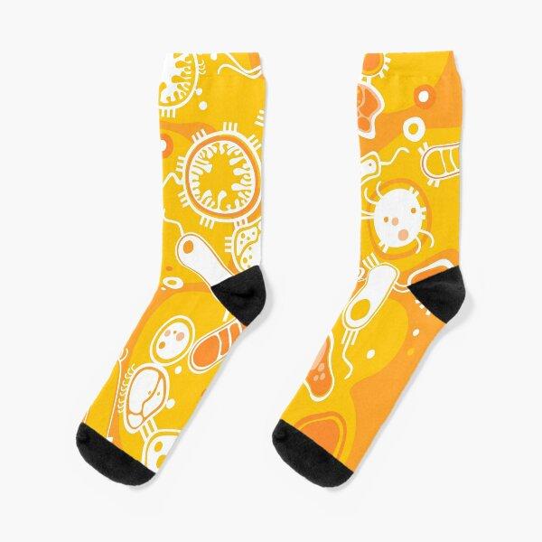 Eukaryote (weiß + gelb) Socken