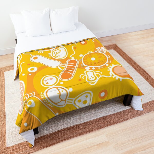 Eukaryote (white + yellow) Comforter