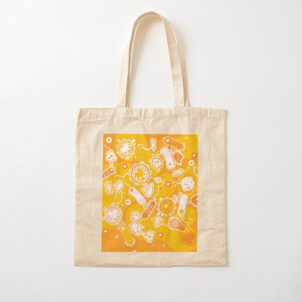 Eukaryote (white + yellow) Cotton Tote Bag