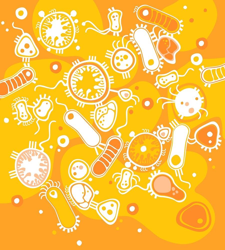 Eukaryote (weiß + gelb) von Daniela  Illing