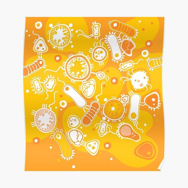Eukaryote (white + yellow) Poster