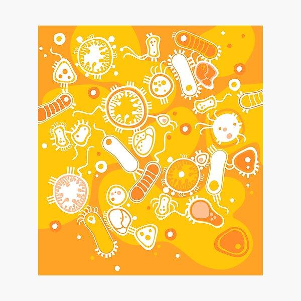 Eukaryote (weiß + gelb) Fotodruck