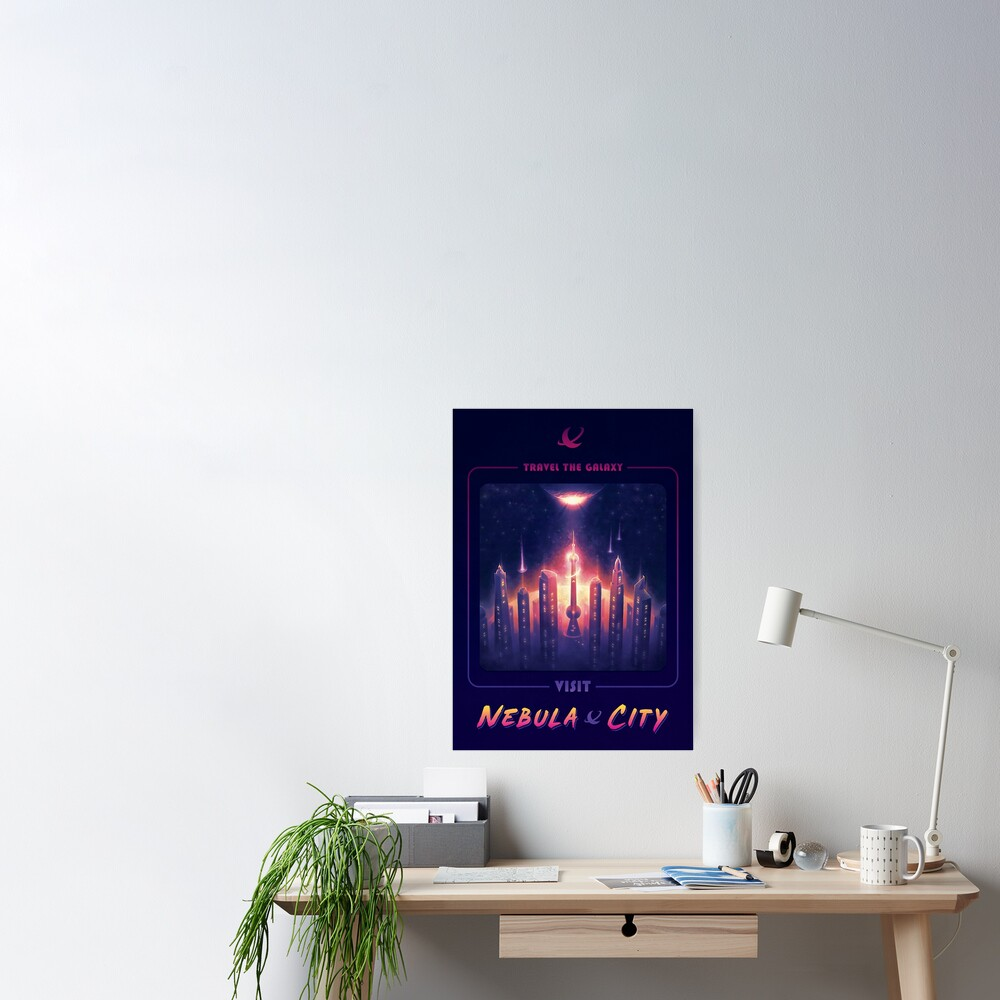 Nebula City Poster Poster