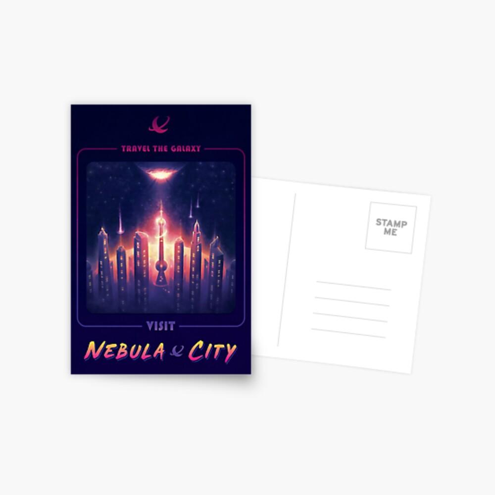 Nebula City Poster Postcard