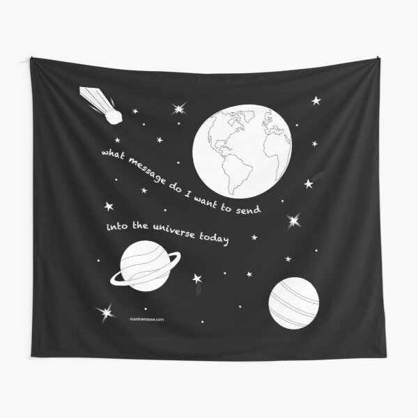 MantraMouse® Universe Message Cartoon Tapestry