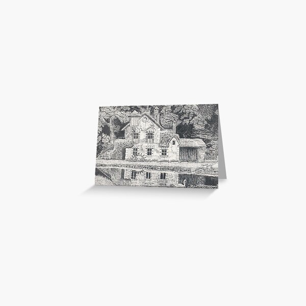 Versailles Mill Cottage Greeting Card
