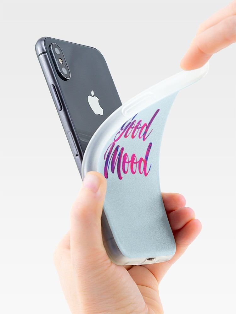 Alternate view of Good Mood (Purple Blue) iPhone Case & Cover