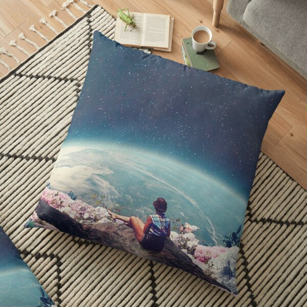 My World Blossomed when I Loved You Floor Pillow