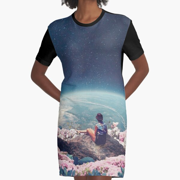 My World Blossomed when I Loved You Graphic T-Shirt Dress