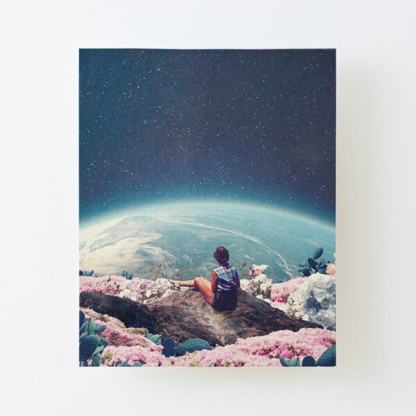 My World Blossomed when I Loved You Canvas Mounted Print