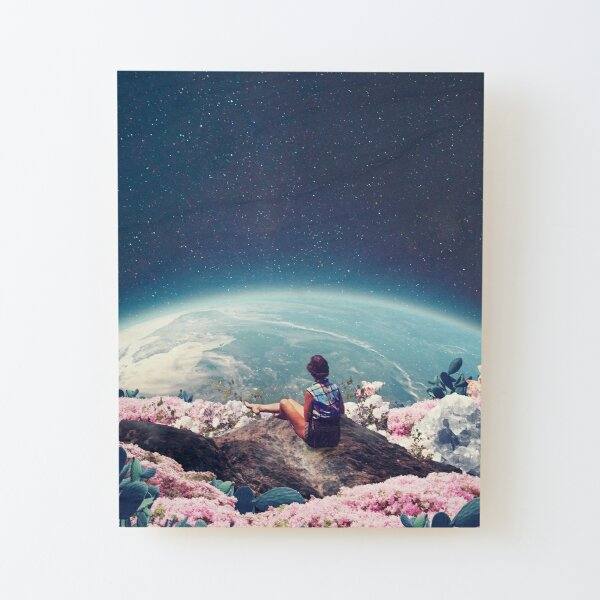 My World Blossomed when I Loved You Wood Mounted Print