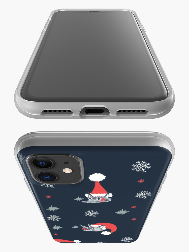 Alternate view of Christmas pattern with dog and snow iPhone Case & Cover