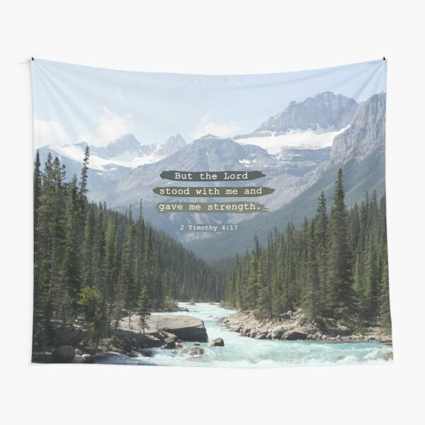 But the Lord stood with me, Canadian Rockies Tapestry