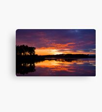 Sunset Over Gladhouse Canvas Print