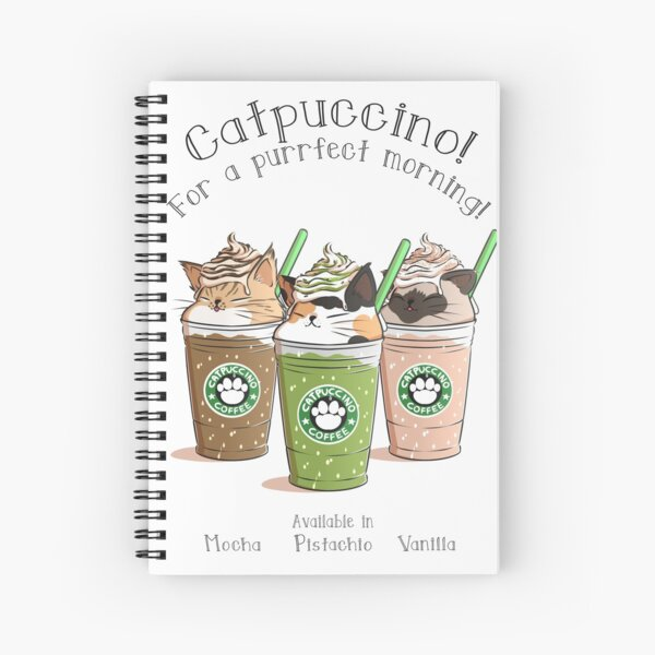Catpuccino! For a purrfect morning! (Second Version) Spiral Notebook