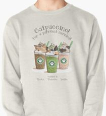 Catpuccino! For a purrfect morning! (Second Version) Pullover Sweatshirt