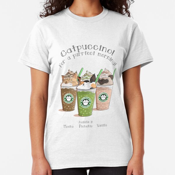 Catpuccino! For a purrfect morning! (Second Version) Classic T-Shirt