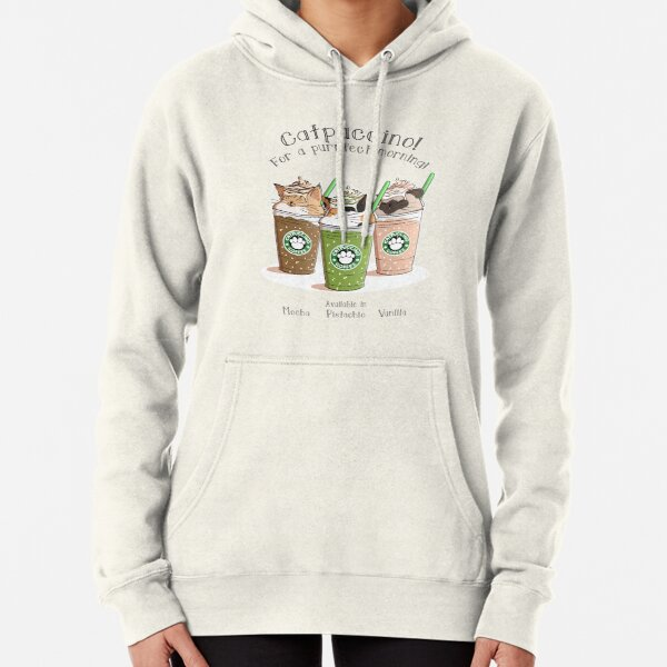Catpuccino! For a purrfect morning! (Second Version) Pullover Hoodie