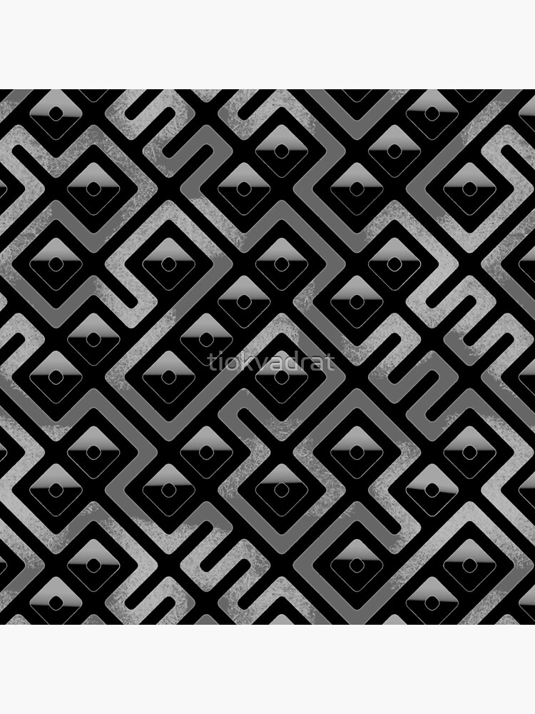Maze Abstract Pattern - Black / Gray by tiokvadrat