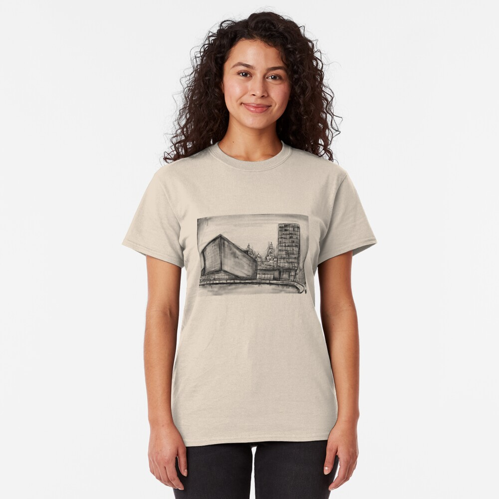 Charcoal sketch - Liverpool Classic T-Shirt