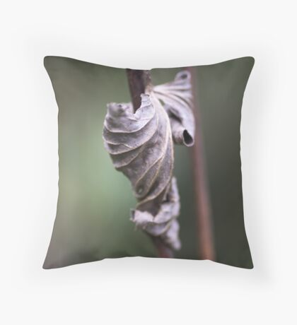 See the Beauty in a Dead Leaf Throw Pillow