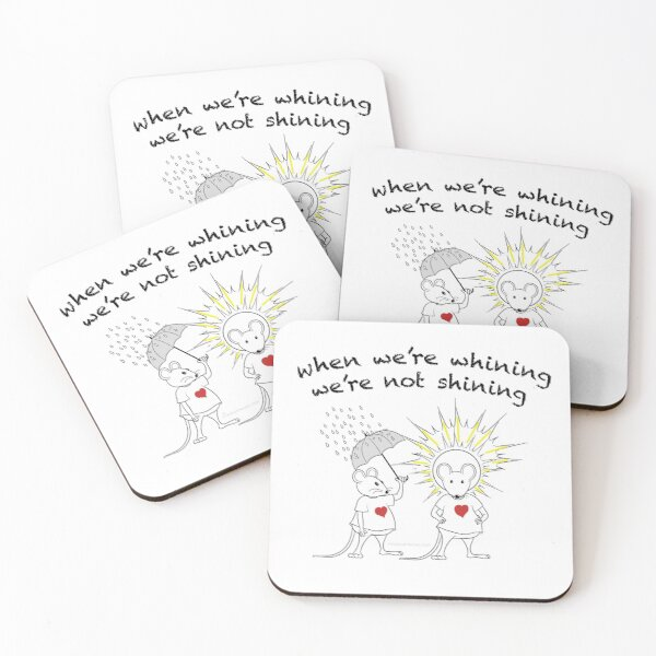 MantraMouse® Shining Cartoon in Color Coasters (Set of 4)