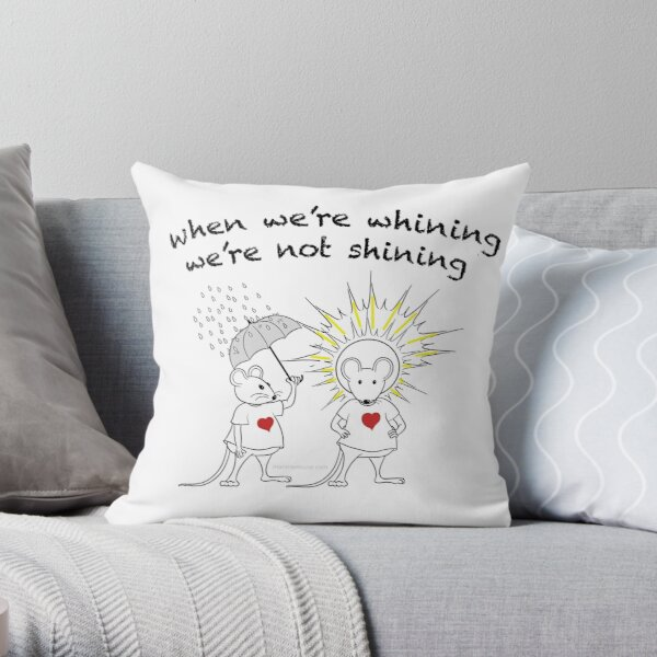 MantraMouse® Shining Cartoon in Color Throw Pillow