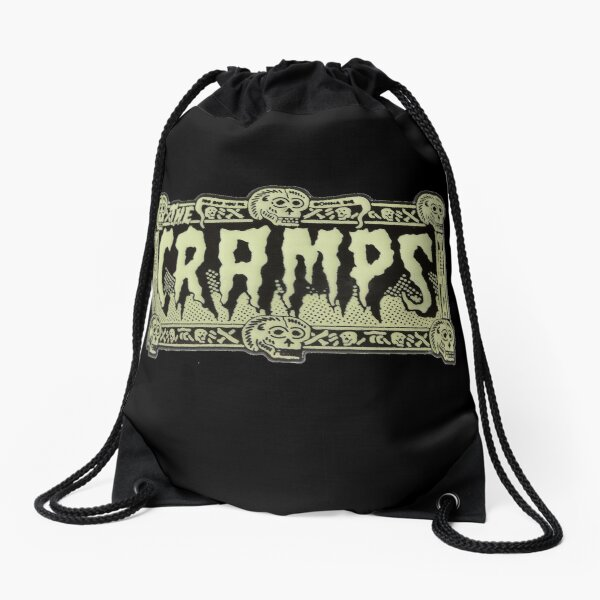 The Cramps Drug Train Logo Drawstring Bag