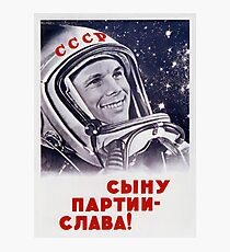 Yuri Gagarin - Sowjetische Raumfahrtpropaganda Fotodruck