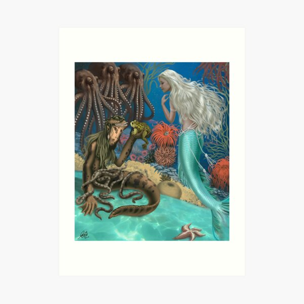 The Little Mermaid and Sea Hag Art Print