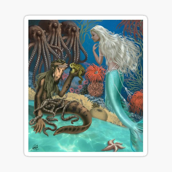 The Little Mermaid and Sea Hag Sticker