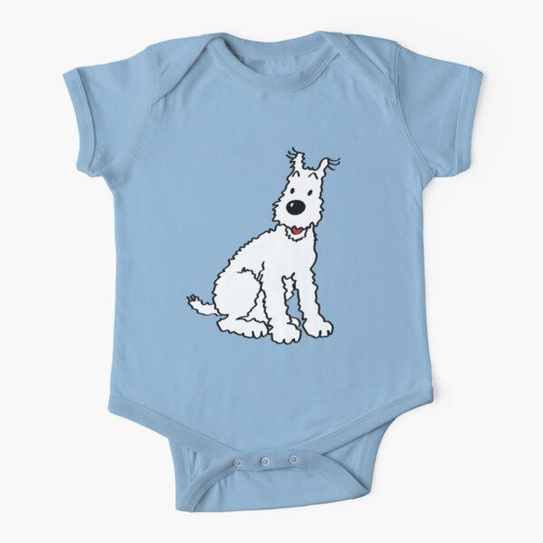 Snowy dog Tin Tin Short Sleeve Baby One-Piece