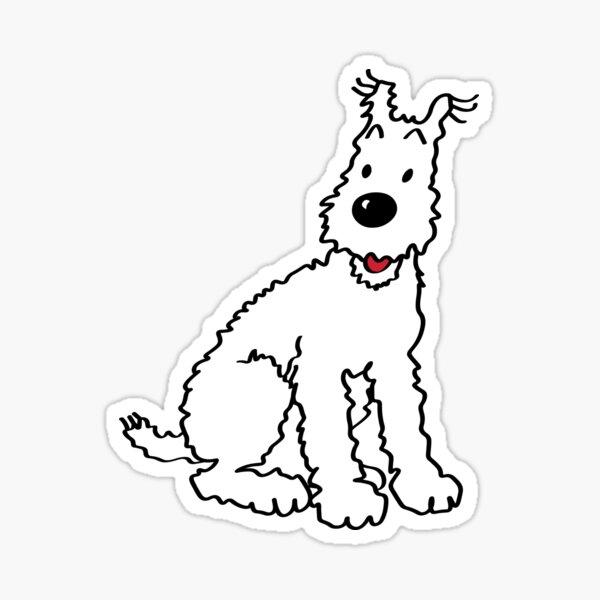 Snowy dog Tin Tin Sticker
