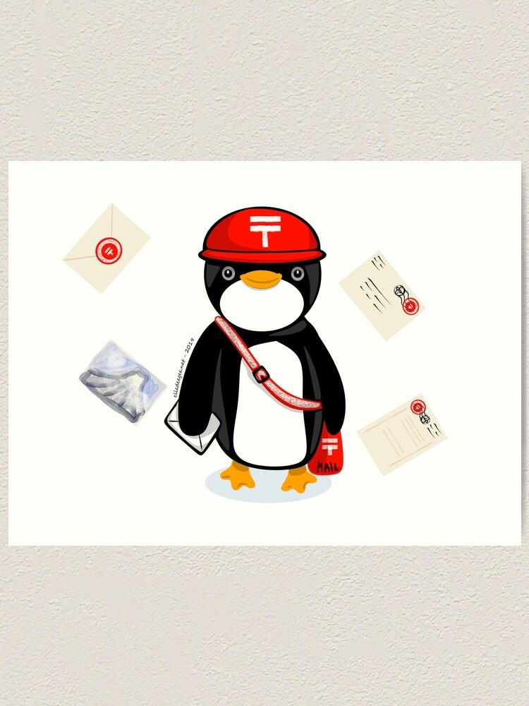 Alternate view of Penguin Postmaster Japan Art Print