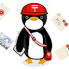 Penguin Postmaster Japan by elledeegee