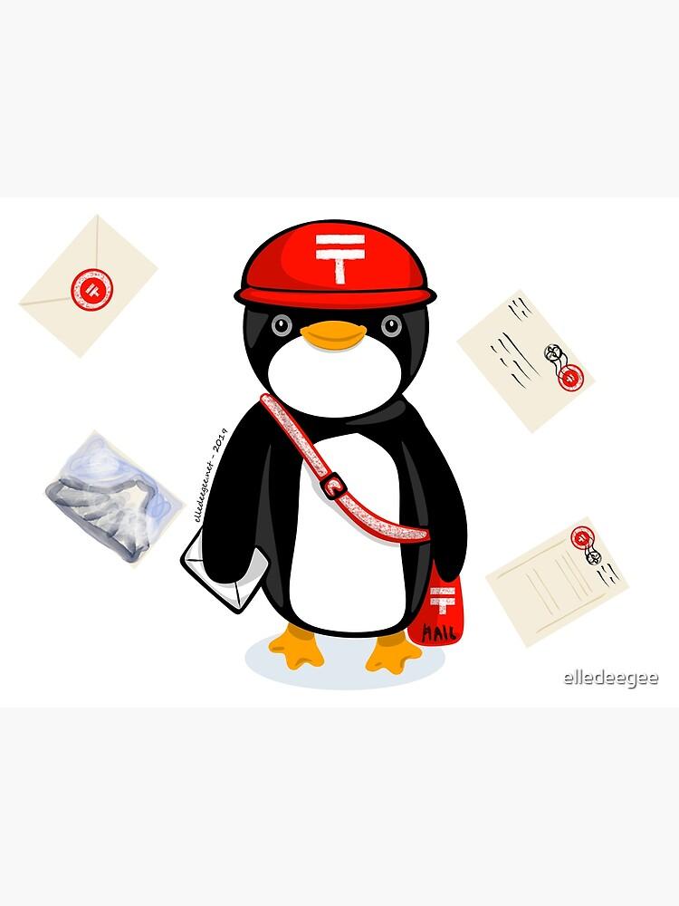 Penguin Postmaster Japan by elledeegee