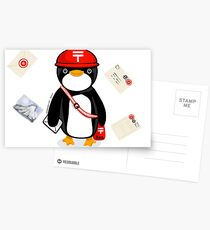 Penguin Postmaster Japan Postcards