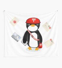 Penguin Postmaster Japan Wall Tapestry