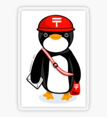 Penguin Postmaster Japan Transparent Sticker