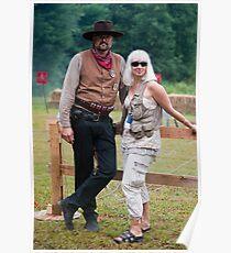 Cowboy & his woman Poster