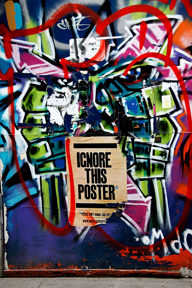 Ignore this poster by heatherbyrne